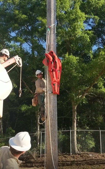 "Fairhope Electric Department conducts annual ""Hurt-man"" Safety Training"