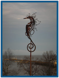 Seahorse Sculpture at Cliff Drive Bluff