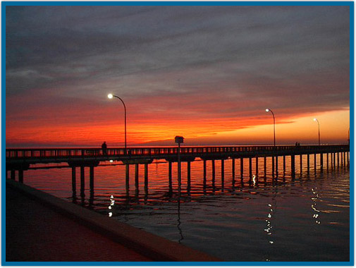 Sunset at Fairhope Municipal Pier